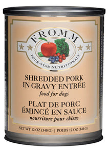 Fromm 4-Star Shredded Pork in Gravy Entree Canned Dog Food - NJ Pet Supply