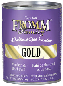 Fromm Gold Venison and Beef Pate Canned Dog Food - NJ Pet Supply
