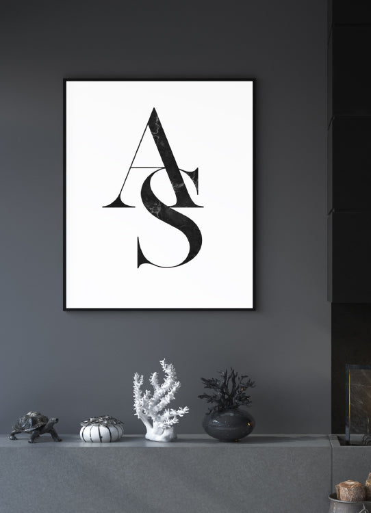 "POSTER ""LETTRES"" PERSONNALISABLE"