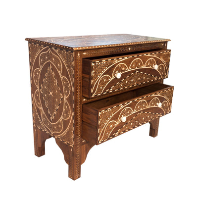 Dew Drop Side Table - 2 Drawer