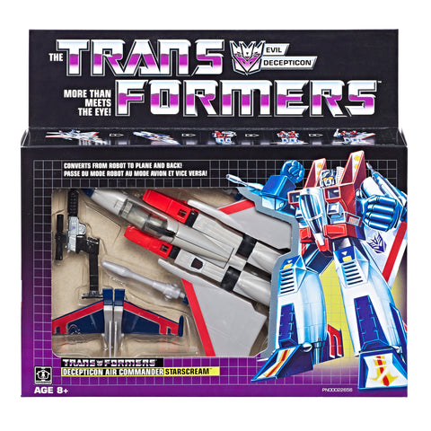 Transformers Vintage G1 Starscream Reissue