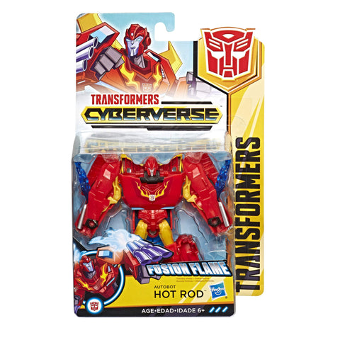 Transformers Cyberverse Warrior class Hot Rod Autobot Robot box package