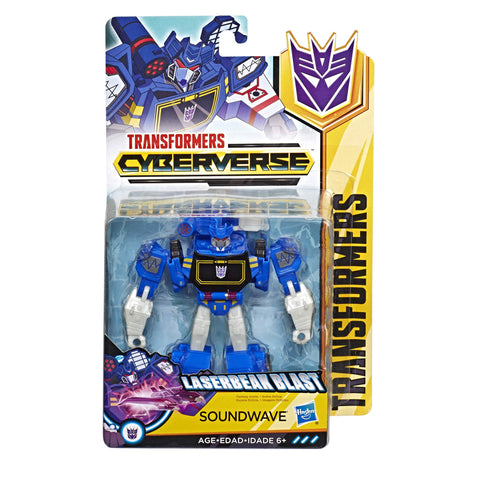 Transformers Cyberverse Warrior class decepticon Soundwave Box package