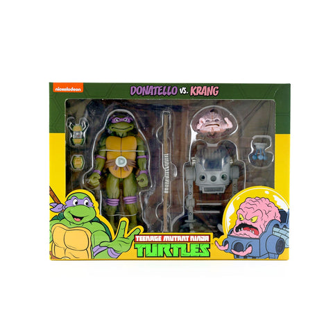 NECA TMNT Teenage Mutant Ninja Turtles Donatello vs. Krang two-pack Target exclusive Box Package Front