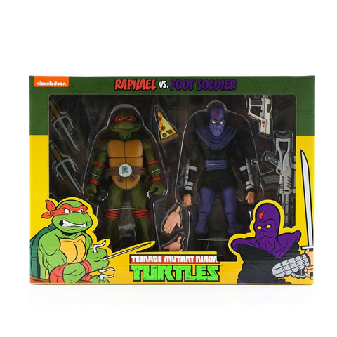 NECA Teenage Mutant Ninja Turtles Raphael vs. Foot Solder - 2-pack