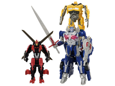 Transformers Movie Turbo Change TC-13 Battle Command Optimus Prime Commander Set with Drift and Bumblebee