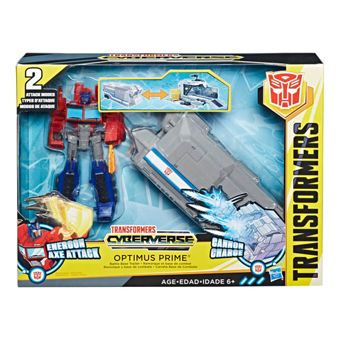 Transformers Cyberverse Warrior Class Optimus Prime Battle Base Trailer giftset Box Package