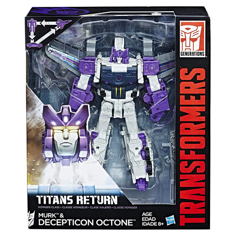 Transformers Titans Return Voyager Decepticon Octone Octane Murke Triple-changer Box package