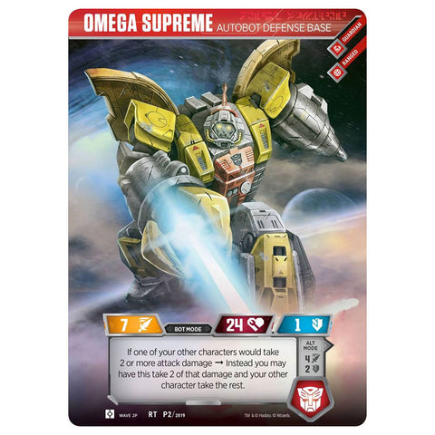 Transformers Trading Card Game TCG Titan Character Card Omega Surpreme Autobot Defense Base Lootcreate Exclusive Robot
