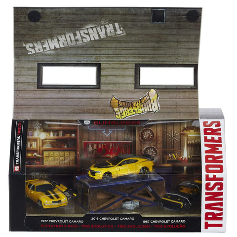 Transformers Tribute Bumblebee Evolution 3-pack Box Package open