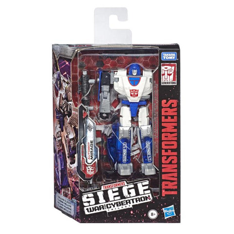 Transformers War for Cybertron Siege WFC-S43 Deluxe Mirage Race Car Box Package