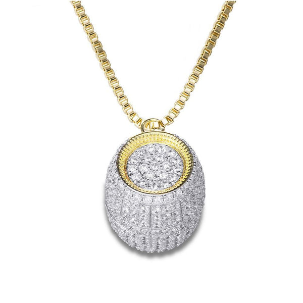 Bucket Pendant With Nice Golden Necklace For Men
