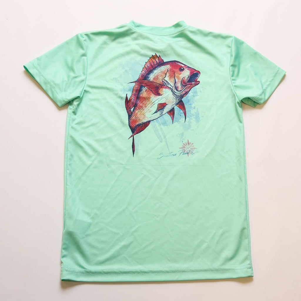 Youth Red Snapper Dry Fit UPF Tee