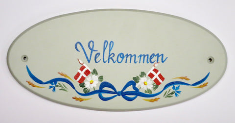 Velkommen Danish Wall Decal (Hand-Painted)