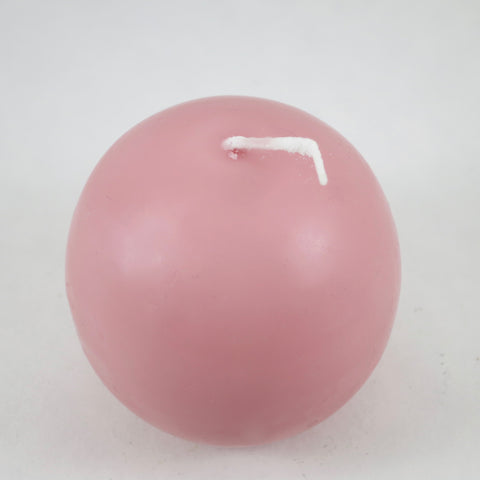 "2.5"" Flamingo Pink - Ball Candles from Denmark (Pack of 4)"
