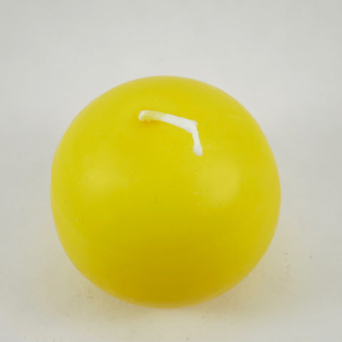 "2.5"" Lemon - Ball Candles from Denmark (Pack of 4)"