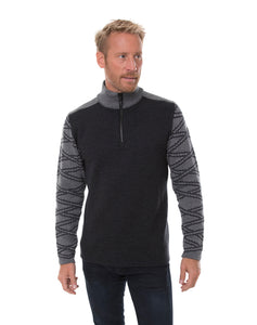 Balder Masculine Sweater, by DALE of Norway (Dark Charcoal/Smoke)