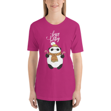 Load image into Gallery viewer, Happy Holiday Panda Women's Tee's