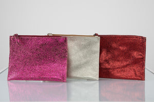BY M.A.R.Y Accessories Metallic Red Kanta Clutch - Metallic Red