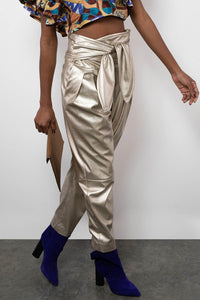 BY M.A.R.Y S Dagny Pants - Light Gold