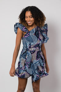 BY M.A.R.Y S/M Shani Dress - Blue/Metallic Purple
