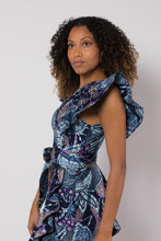 Load image into Gallery viewer, BY M.A.R.Y S/M Shani Dress - Blue/Metallic Purple