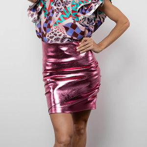 BY M.A.R.Y S Peta Skirt - Metallic Pink
