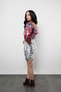BY M.A.R.Y S Peta Skirt - Metallic Silver