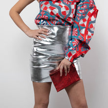 Load image into Gallery viewer, BY M.A.R.Y S Peta Skirt - Metallic Silver