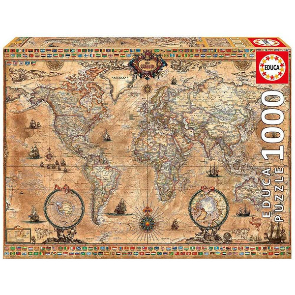 Educa Antique World Map 1000 pieces Puzzle