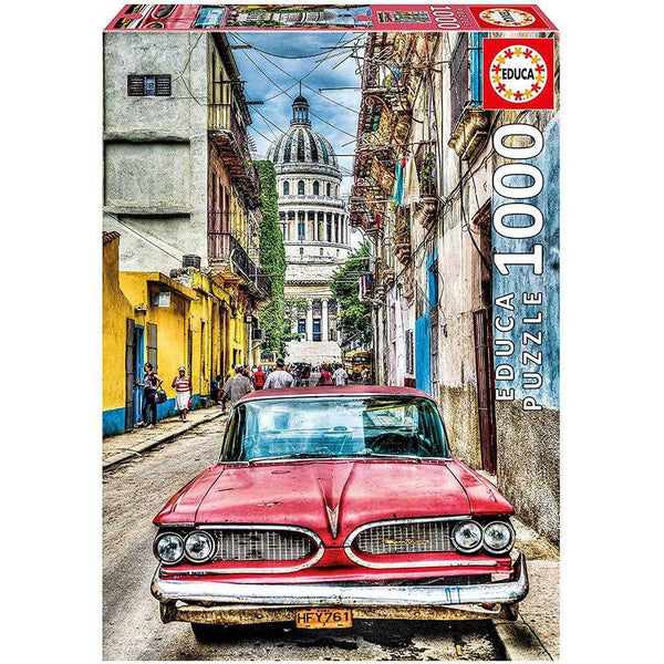 Educa 1000 Vintage Car In Old Havana Puzzle
