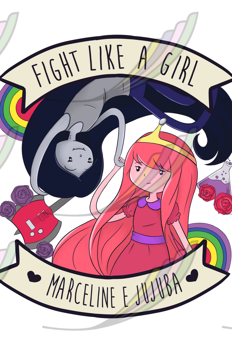 Caneca Fight Like a Girl® - Marceline&Jujuba