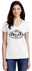 Florida Shy Wolf Ladies V-Neck Shirts