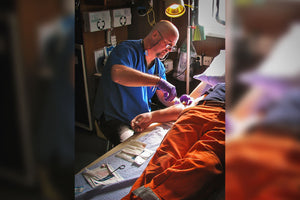Learn Prolonged Field Care skills like suturing in our Remote Medicine For Advanced Providers