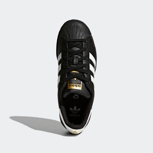 Big Kids Adidas Superstar Foundation Shell Toe Classic Sneaker In Black White