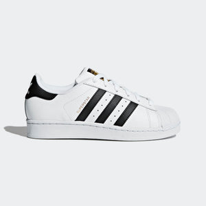 Big Kids Adidas Superstar Foundation Shell Toe Classic Sneaker In White Black