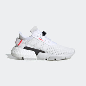 Big Kids Adidas Unisex Originals Pod S3-1 Shoe In Cloud White Shock Red