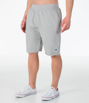 Mens Champion Reverse Weave Cut-Off Cozy Shorts In Oxford Grey