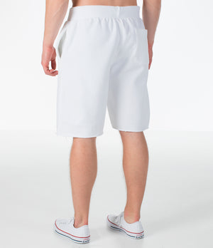 Mens Champion Reverse Weave Cut-Off Cozy Shorts In White
