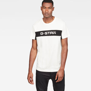 Mens G-Star Inc Graphic 80 Tee Shirt In Milk Dark Black