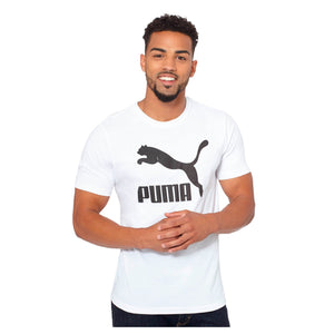 Mens Puma Archive Life Tee Shirt In White Black