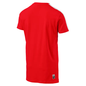Mens Puma Archive T7 Stripe Shirt In Flame Scarlet Red White