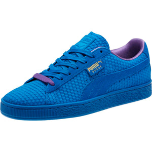 Mens Puma Suede Classic Archive All Over Sneaker In Puma Royal Gold