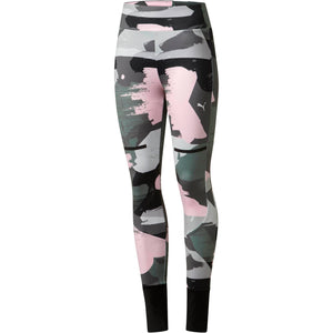 Womens Puma Chase All Over Print Tights Leggings In Iron Gate