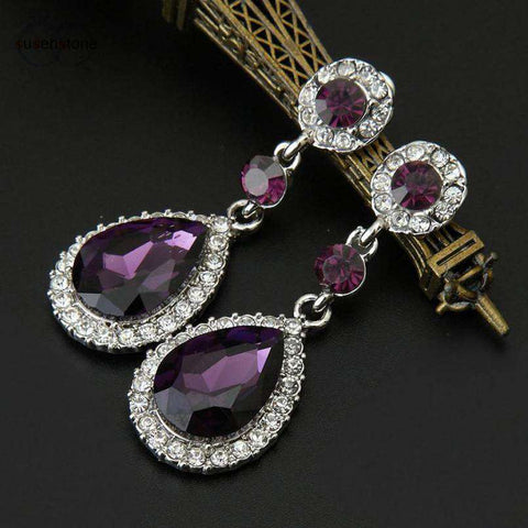 Rhinestone Drop-Style Earrings