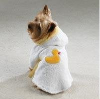 Terry-cloth Dog Bathrobe - Duck on Back -XLarge by Casual Canine