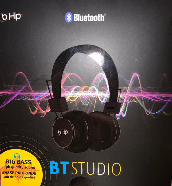 b HIP Bluetooth BT Studio Headphones