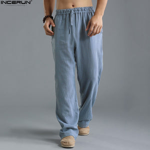 INCERUN Fashion 2018 Summer Autumn Plus Size Hip Hop Harem Pants Men Casual Loose Trousers Elastic Waist Joggers Baggy Pants 5XL