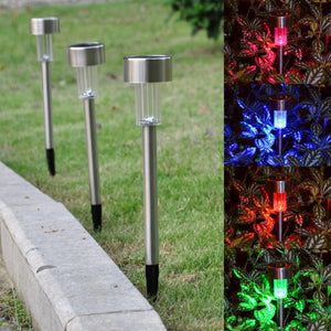 5PCS Led Solar Light For Garden Decoration Outdoor Pathway Waterproof LED Solar Powered Lawn Lights Street