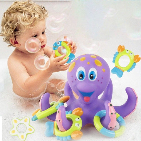 Details about   Floating Bath Toys Baby Octopus Kids Infant Toddlers 5 Rings Learn Play Fun UK
